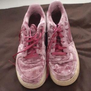 Girls Nike Air Force Ones sneakers